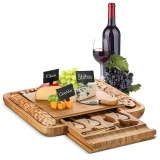 Bamboo Cheese Board and Knife Set ? Full Review